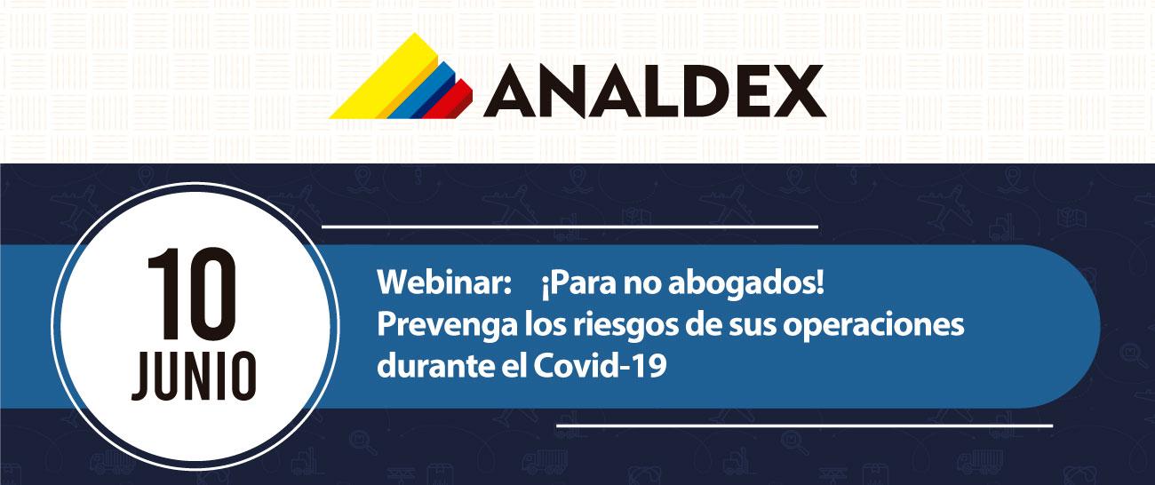 Webinar: ¡Para no abogados! Prevenga los riesgos de sus operaciones durante el Covid-19