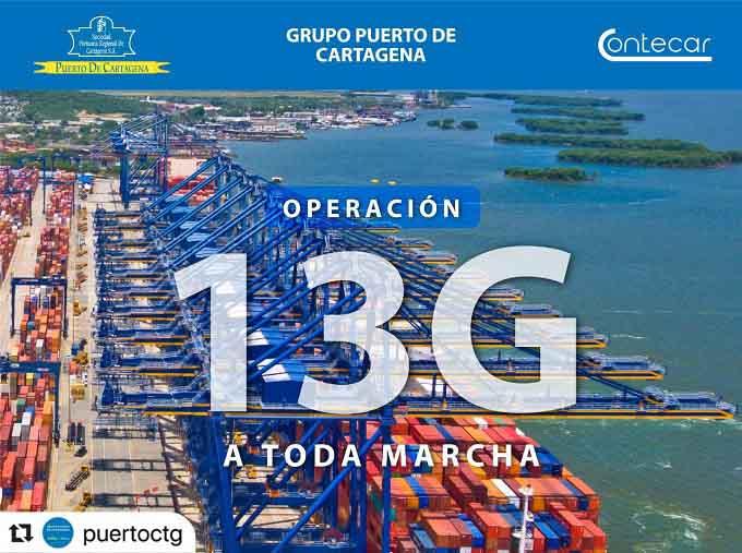 Dos mega buques serán atendidos en simultáneo en Contecar