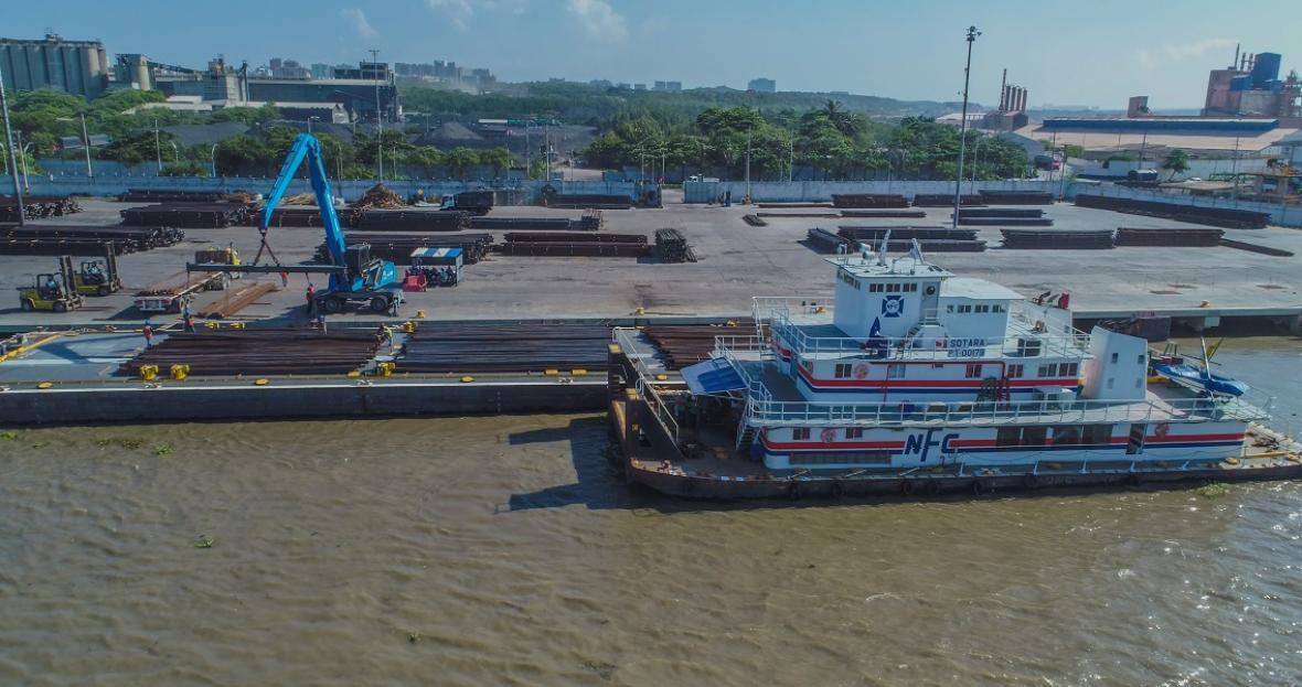 Compas Barranquilla realizó embarque récord de 5 mil toneladas de acero